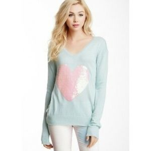 Wildfox Green With Glitter White Heart Size Small